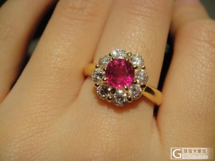 一颗经济型红宝戒指 太阳花款 卡哇伊 w