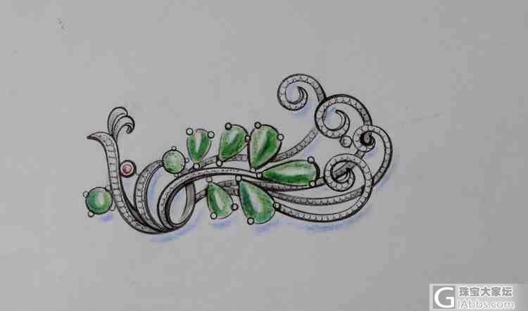 【甲山镶嵌】二十年翡翠设计手稿,谈一谈设计师们的沥血之作