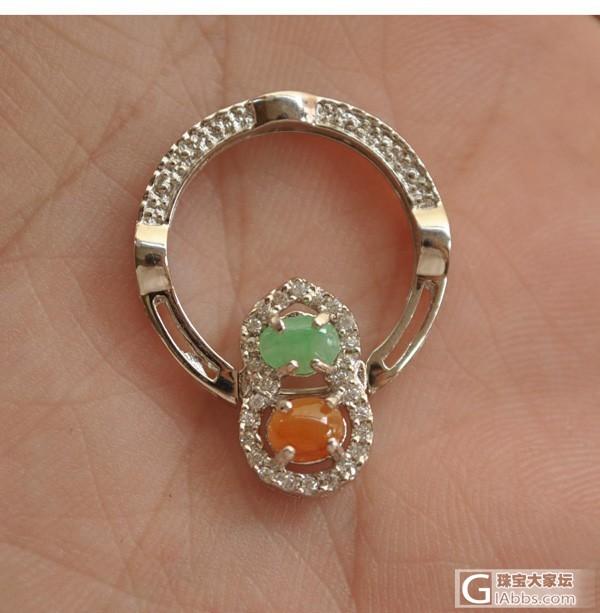 几个金镶玉戒指