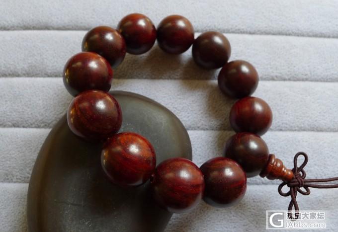 天然印度小叶紫檀老料2.0佛珠手串